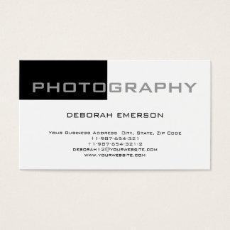 Eyecatching White Black Standard Business Card
