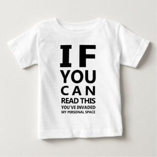 Eyechart T-Shirt: You've Invaded My Personal Space T Shirt