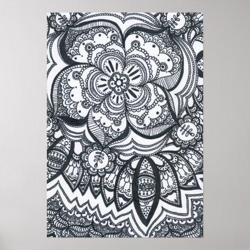 Eyed Flower Mandala Poster.