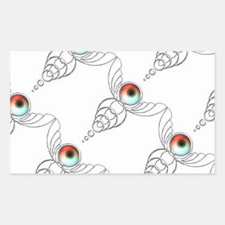 Eyefly-Eye Crop Circle Rectangular Sticker