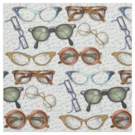 Eyeglass Fashion Pattern Fabric