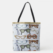 Eyeglass Fashion Pattern Tote Bag