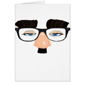 Eyeglasses and Face with Mustache Card