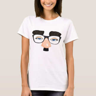 Eyeglasses and Face with Mustache T-Shirt