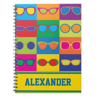 Eyeglasses Checkerboard Notebook