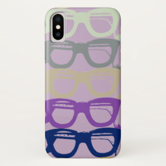 Eyeglasses Cool Retro Purple Safety Glasses iPhone X Case