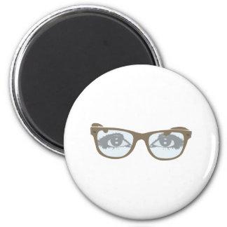 Eyeglasses eyes of glasses eyes 2 inch round magnet