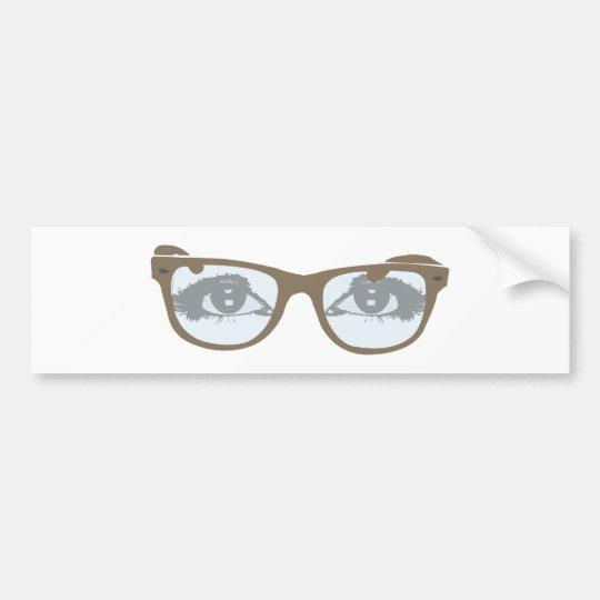 Eyeglasses eyes of glasses eyes bumper sticker