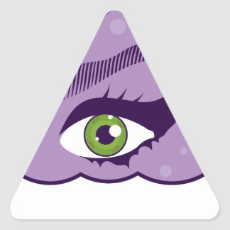 EyeInHeaven.pdf Triangle Sticker