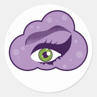 EyeInHeaven.pdf Round Stickers