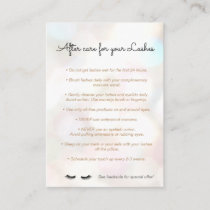 Eyelash  Aftercare Instructions Referral Bokeh
