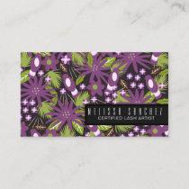 Eyelash Artist Extensions Makeup Artist Tropical B Business Card