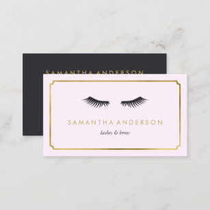 Eyelash Extension Brow Beautician Business Cards