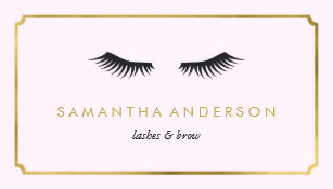 eyelash extension brow beautician business cards - Lash Extension Business Cards