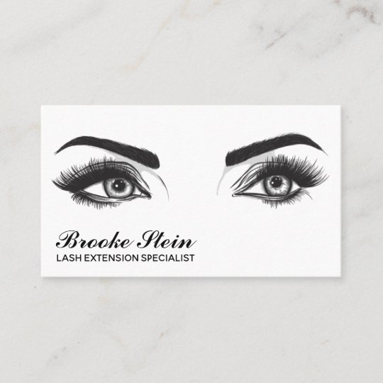 eyelash extension business card - Eyelash Extension Business Cards