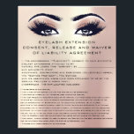 "EYELASH EXTENSION CONSENT, RELEASE AND WAIVER Rose Flyer<br><div class=""desc"">florenceK design</div>"