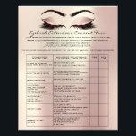 """Eyelash Extension Liability Waiver Rose Pink Blush Flyer<br><div class=""""desc"""">florenceK design</div>"""