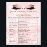 "Eyelash Extension Liability Waiver Rose Pink Flyer<br><div class=""desc"">florenceK design</div>"