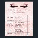 """Eyelash Extension Liability Waiver Rose Pink Flyer<br><div class=""""desc"""">florenceK design</div>"""