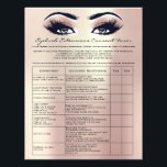 "Eyelash Extension Liability Waiver Rose Skinny Flyer<br><div class=""desc"">florenceK design</div>"
