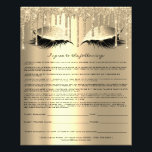 "Eyelash Extension Liability Waiver Sparkly Drips Flyer<br><div class=""desc"">florenceK design</div>"