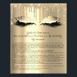 "Eyelash Extension Liability Waiver Sparkly Glam Flyer<br><div class=""desc"">florenceK design</div>"