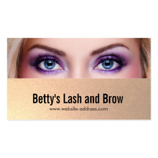Eyelash Extensions and Brow Customizable Photo Business Card