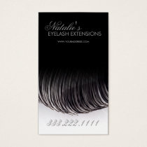Eyelash Extensions Black Business Card