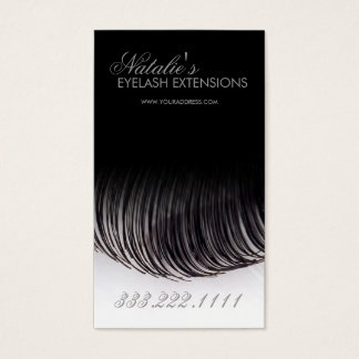 Eyelash Extensions Black Business Card