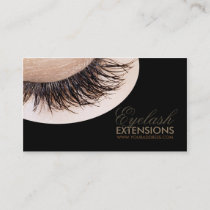 Eyelash Extensions Black Luxury Business Card