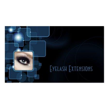 Blue Professional Eyelash Extensions Beauty Salon Business Cards