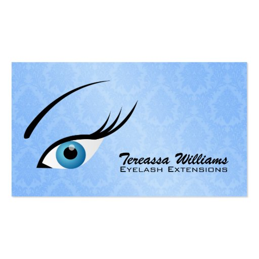 Eyelash extensions business cards zazzle for Eyelash business card