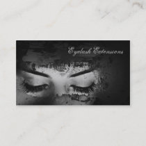 Eyelash Extensions Dark Strokes Business Card