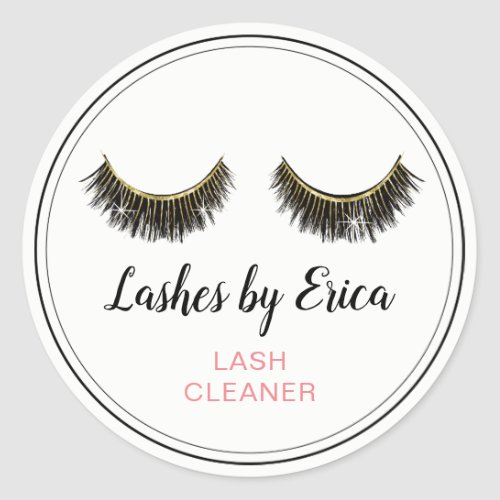 Eyelash Extensions Lash Cleaner Classic Round Sticker