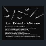 """Eyelash Extensions Makeup Artist Cute Aftercare Flyer<br><div class=""""desc"""">Cute Hand-drawn Minimalist Eyelash Extension Aftercare Cards.</div>"""