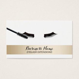 Eyelash Extensions Modern Gold Striped Business Card
