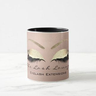 Eyelash Extention Beauty Studio Coffe Eye Glitter Mug