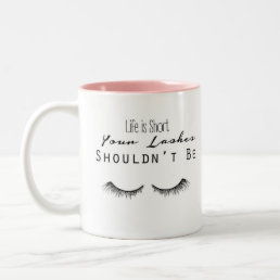 Eyelash Makeup Typography Mug
