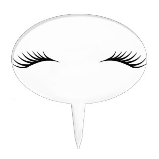 Eyelashes Cake Topper