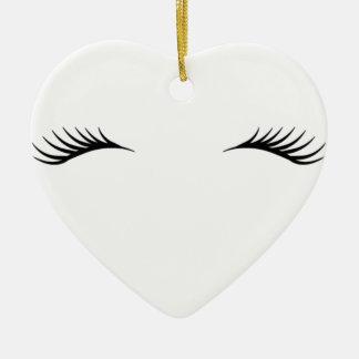 Eyelashes Ceramic Ornament