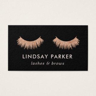 Eyelashes Makeup Artist Rose Gold Business Card