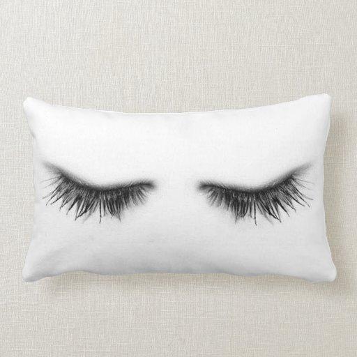 Eyelashes Throw Pillow Zazzle