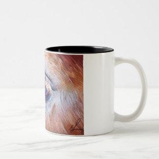Eyelashes Two-Tone Coffee Mug