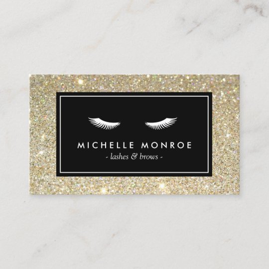 Eyelashes with gold glitter business card zazzle eyelashes with gold glitter business card colourmoves