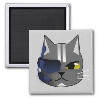 eyepatch del gris del gato del pirata 1300978731_V Imán Cuadrado