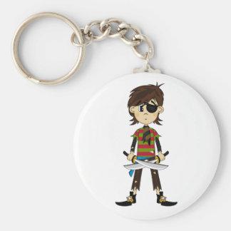 Eyepatch Pirate Girl Keychain