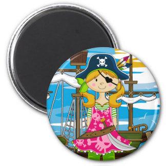 Eyepatch Pirate Girl Magnet Refrigerator Magnet