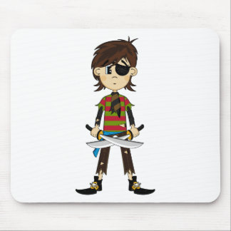Eyepatch Pirate Girl Postcard Mouse Pad