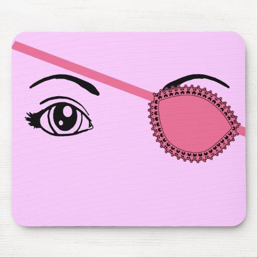 Eyepatch rosado alfombrillas de raton