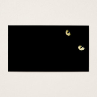 eyes-218185 eyes cat   black  staring yellow  dark business card